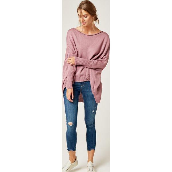 Damski sweter z długim rękawem i dłuższym tyłem