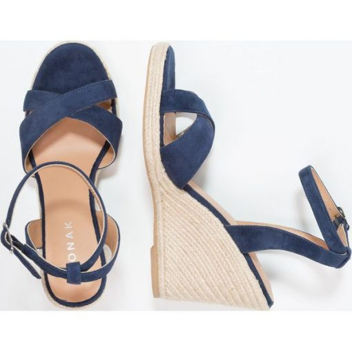 bb8c1eb650 Jonak SIBEL Sandały na obcasie bleu - Niebieskie sandały damskie ...