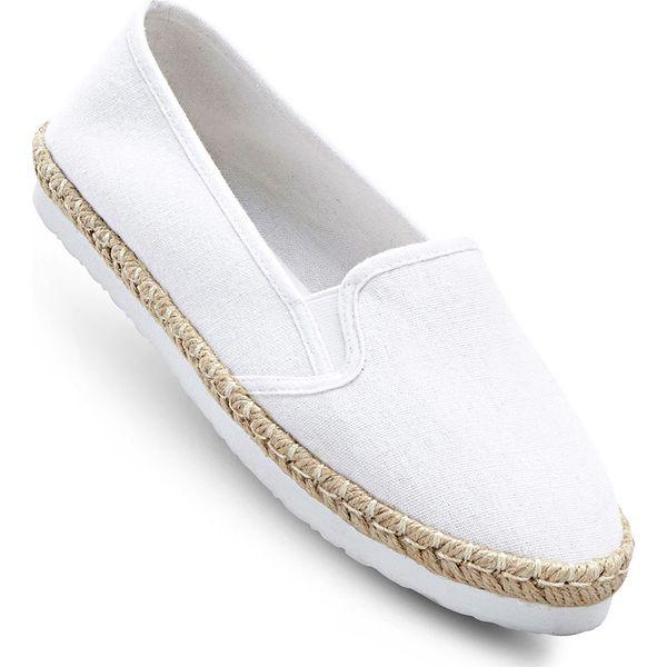 Espadryle bonprix biały - Balerinki damskie marki bonprix. Za 34.99 ... 867f598708