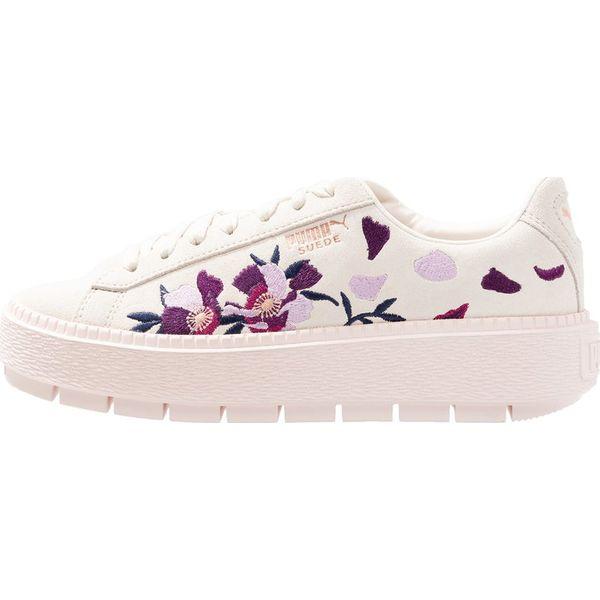Puma PLATFORM TRACE FLOWERY Sneakersy niskie whisper white mauve ... 3a48ed22b
