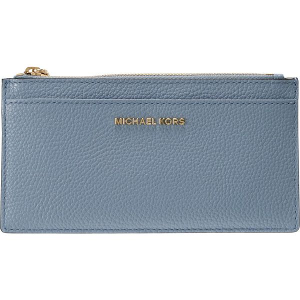54187ec607ee9 MICHAEL Michael Kors MONEY PIECES SLIM CARD CASE Portfel pale blue ...