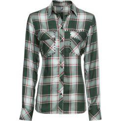 5ad5282ac4ad06 Bluzka koszulowa z ćwiekami bonprix oliwkowy w kratę. Bluzki damskie marki  bonprix. Za 44.99