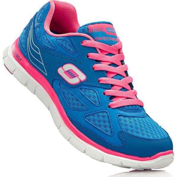 Sneakersy Skechers z pianką Memory bonprix błękit królewski różowy