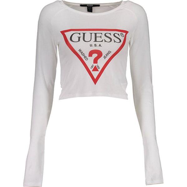 809932e415237 Bluzka w kolorze białym - Białe bluzki damskie marki Guess