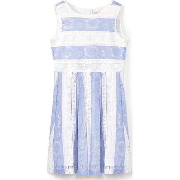 9e6232c51 Sukienka w kolorze błękitno-białym - Niebieskie sukienki dziewczęce ...