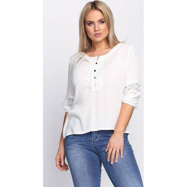 977e9b9d18 Biała Bluzka Simple Vogue - Białe bluzki damskie marki Born2be