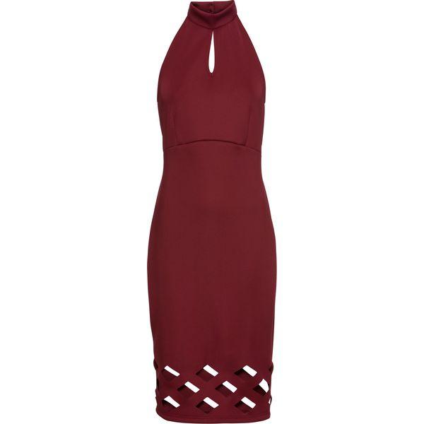 e15c7ab008 Sukienka z wycięciami bonprix czerwień granatu - Sukienki damskie ...