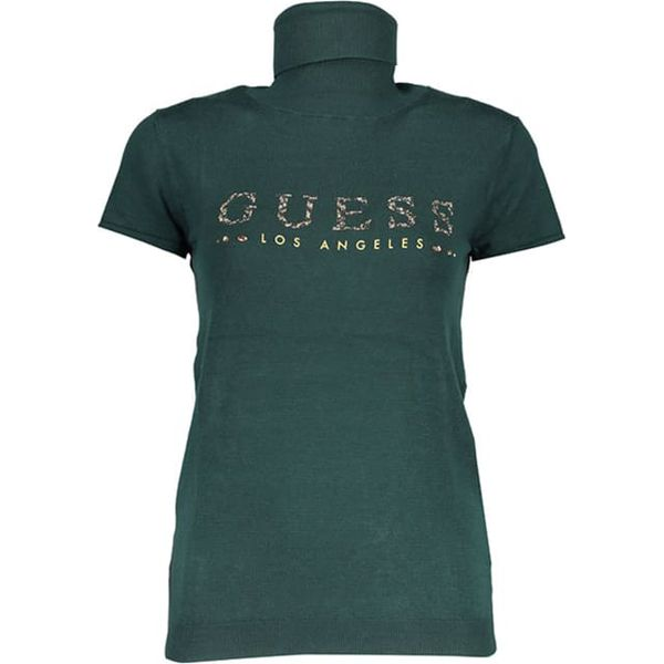 e817b4814f829 Bluzka w kolorze ciemnozielonym - Bluzki damskie marki Guess. W ...