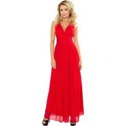 9cf8975109 Czerwona Sukienka Wieczorowa Maxi z Dekoltem V. Sukienki damskie marki  Molly.pl. Za