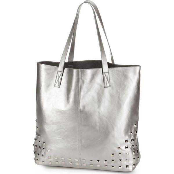1eaf32eecffda Torba shopper z ćwiekami bonprix srebrny kolor - Szare shopper bag marki  bonprix. Za 79.99 zł. - Shopper bag - Torebki damskie - Akcesoria damskie -  Butik ...