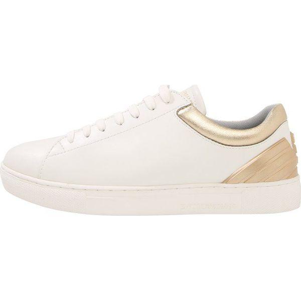 79f49f4043eb9 Emporio Armani ALANA Sneakersy niskie optic white/gold - Obuwie ...