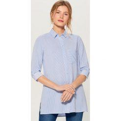 72f5b0e2d01d89 Koszula z podwijanymi rękawami - Niebieski. Koszule damskie Mohito. W  wyprzedaży za 29.99 zł