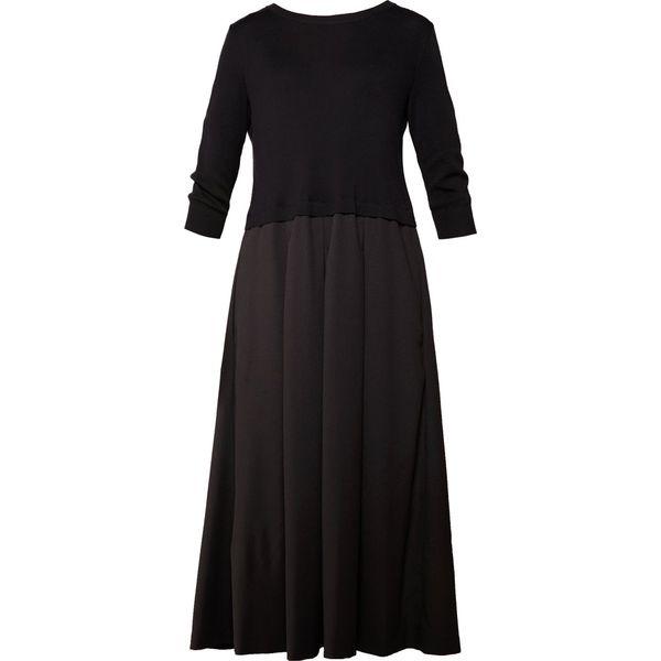 67092288a7 WEEKEND MaxMara MALLO Długa sukienka schwarz - Sukienki damskie ...