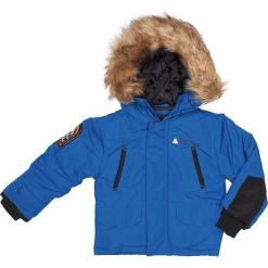 056a09c532b9d Kurtka zimowa w kolorze niebieskim. Niebieskie kurtki i płaszcze chłopięce  marki Peak Mountain, na