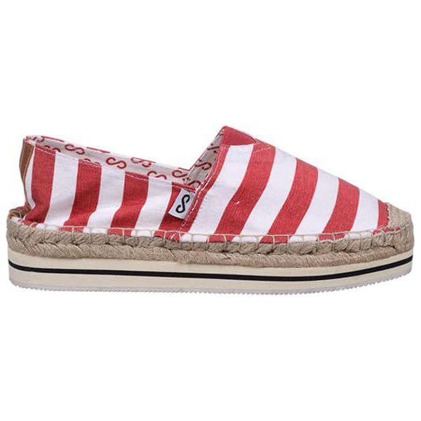 49e80e5d56 Espadryle w kolorze czerwono-białym - Białe espadryle damskie marki ...