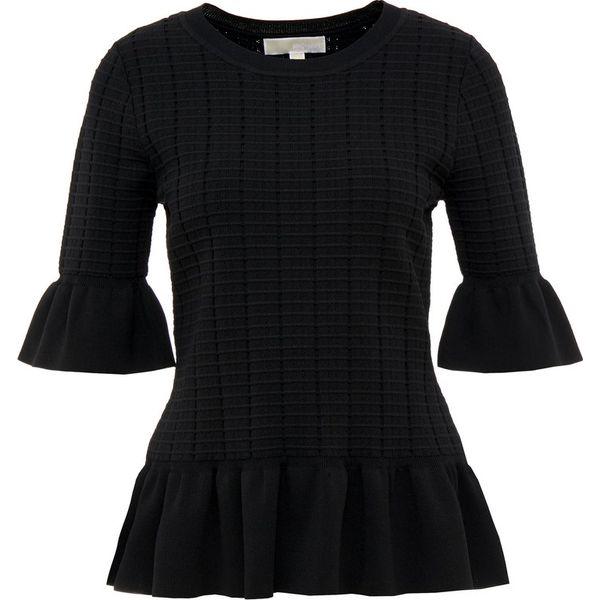 72a67c965da8b MICHAEL Michael Kors CREW Tshirt z nadrukiem black - T-shirty ...