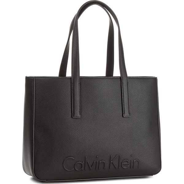 fac716f0c85c5 Torebka CALVIN KLEIN - Edge Medium Shopper K60K603986 001 - Czarne ...