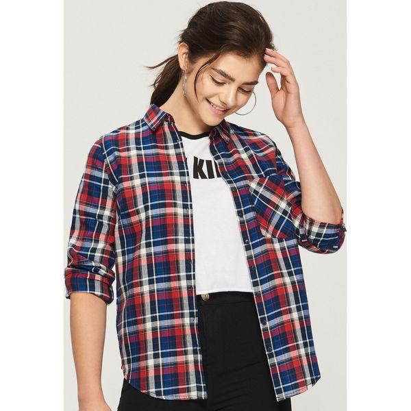 2d30b4f2c7 Koszula w kratę - Granatowy - Niebieskie koszule damskie marki Sinsay. W  wyprzedaży za 39.99 zł. - Koszule damskie - Bluzki i koszule damskie -  Odzież ...