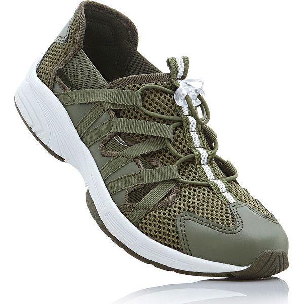 e06ba3835dee46 Buty sportowe bonprix oliwkowy - Zielone obuwie sportowe casual ...
