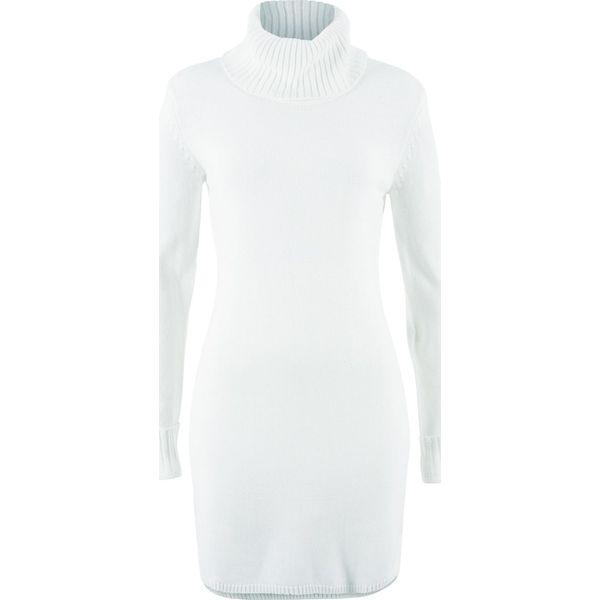 e22ee7b58a Sukienka dzianinowa bonprix biel wełny - Sukienki damskie marki ...