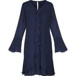 54fc6f09a3904c sukienka koktajlowa długi rękaw - zobacz wybrane produkty. Granatowa  sukienka z falbanami. Sukienki damskie Vitovergelis. Za 549.00 zł.
