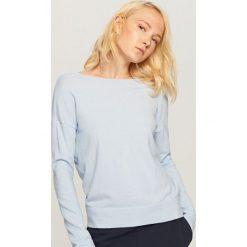 b8f6f1fbcc ... sklepu Reserved - Kolekcja wiosna 2019. Gładki sweter - Niebieski. Niebieskie  swetry klasyczne damskie marki Reserved. Za 69.99 zł.