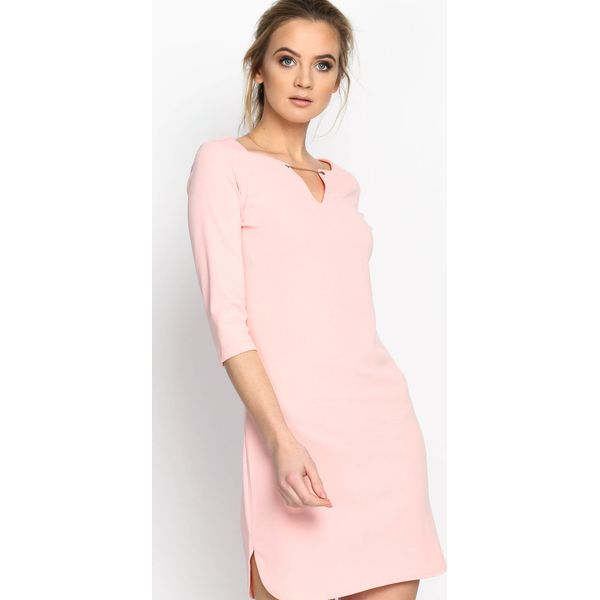 c0f51ae2d Różowa Sukienka Simple Shape - Czerwone sukienki damskie marki ...