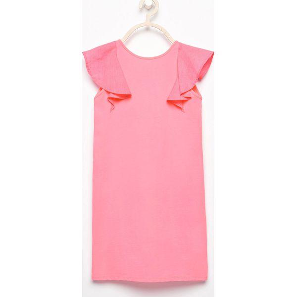 9a20c183 Sukienka z rękawami z falbanek - Różowy