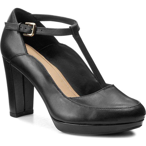 1c6acdc44b111 Półbuty CLARKS - Kendra Daisy 261267994 Black Leather - Czółenka ...