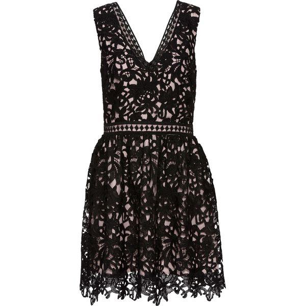 d12bede6a6 Sukienka koronkowa bonprix czarno-różowy - Czarne sukienki damskie ...