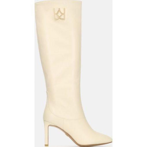 Czerwone obuwie damskie Tory Burch, na niskim obcasie