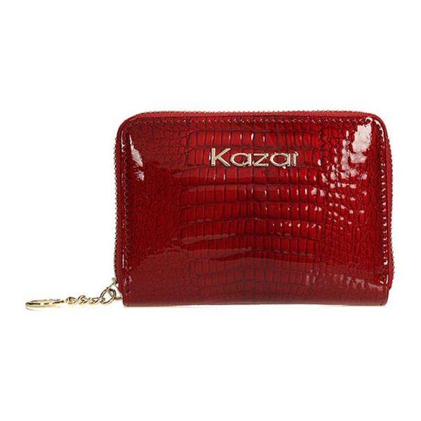 32c0c6c54ea4b Skórzany portfel w kolorze czerwonym - (S)13 x (W)9