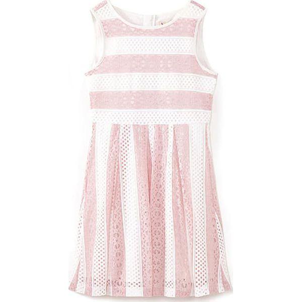 0c37e7d3e Sukienka w kolorze jasnoróżowo-białym - Czerwone sukienki dziewczęce ...
