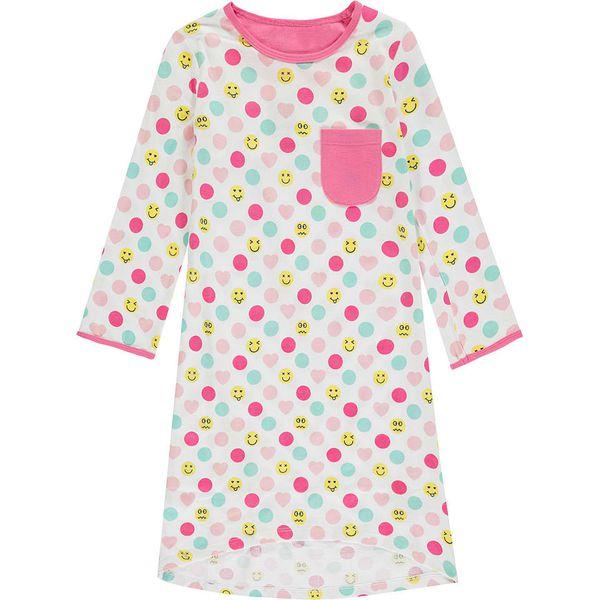 ccac83fced2f7f Koszula nocna w kolorze biało-różowym - Białe bluzki i koszule ...