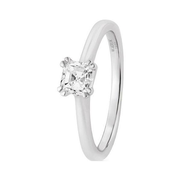 Zjawiskowy Pierścionek Białe Złoto Złoto Białe 585 Diament 050ct