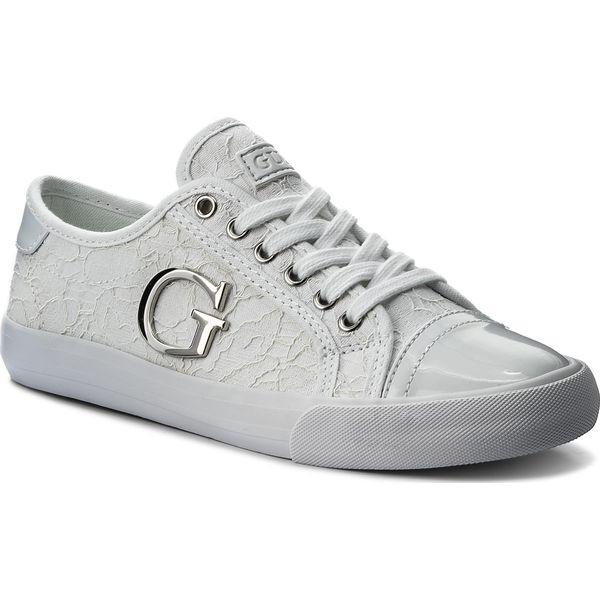 19c473f1e8493 Tenisówki GUESS - Elly FLLLY1 LAC12 WHITE - Białe trampki damskie ...