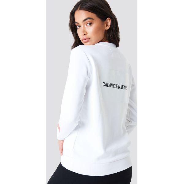 e4ab75f0f1465 Calvin Klein Bluza Multi Logo - White - Bluzy damskie marki Calvin ...