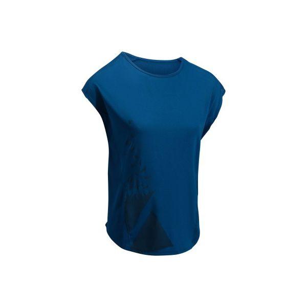 740ab92a4bb1e4 Koszulka fitness cardio 120 - Czarne koszulki damskie DOMYOS. W wyprzedaży  za 21.99 zł. - Koszulki damskie - Koszulki i topy damskie - Odzież damska -  Butik ...