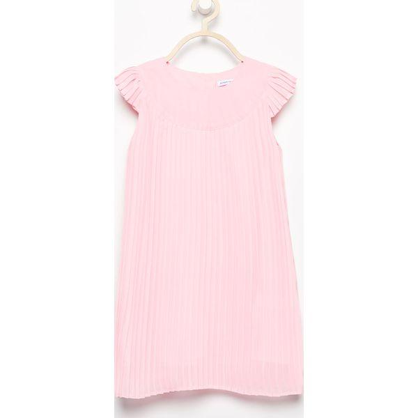 4516eefc Plisowana sukienka - Różowy