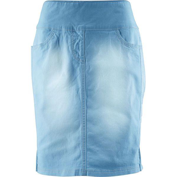 ad3f5ed7 Spódnica ze stretchem z wysoką talią bonprix niebieski