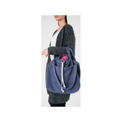 d40545033e8a5 Torby i plecaki damskie marki Ekoszale - Kolekcja wiosna 2019. Duża torba  dresowa, sportowa torebka bawełniana na ramię i do ręki jeans - malina.