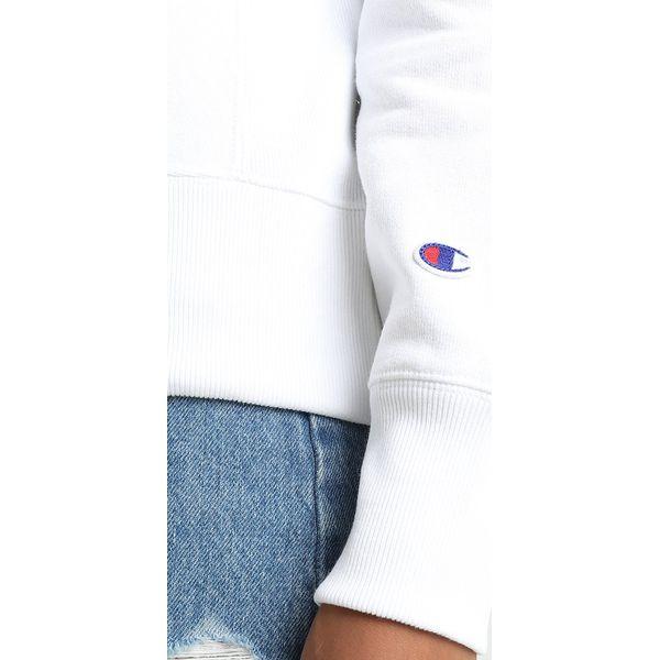 d5c6b6e38 Champion Reverse Weave CREWNECK Bluza white - Bluzy damskie marki ...
