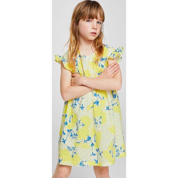 c16752032f Mango Kids - Sukienka dziecięca Hilda 110-152 cm - Szare sukienki  dziewczęce marki Mango Kids