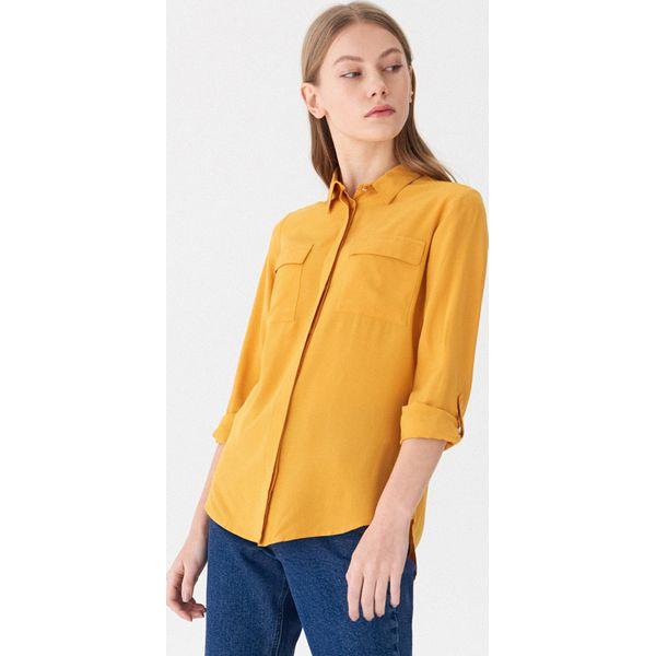 9ca06f00aa0b8f Koszula z kieszeniami - Żółty - Koszule damskie House. W wyprzedaży ...