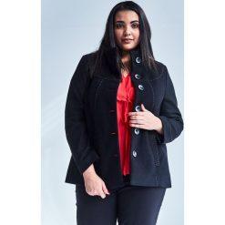 5e2704f919d10 Czarna elegancka kurtka płaszcz Vera OVERSIZE PLUS SIZE WIOSNA. Kurtki  damskie marki Moda Size Plus