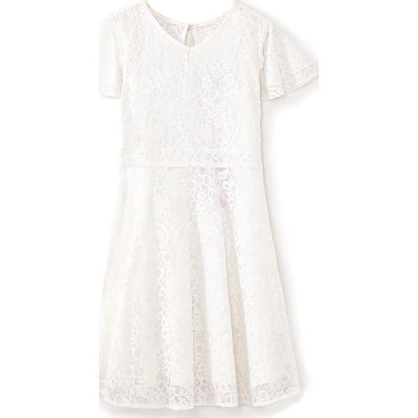 7fcf1df20 Sukienka w kolorze kremowym - Białe sukienki dziewczęce marki Yumi ...
