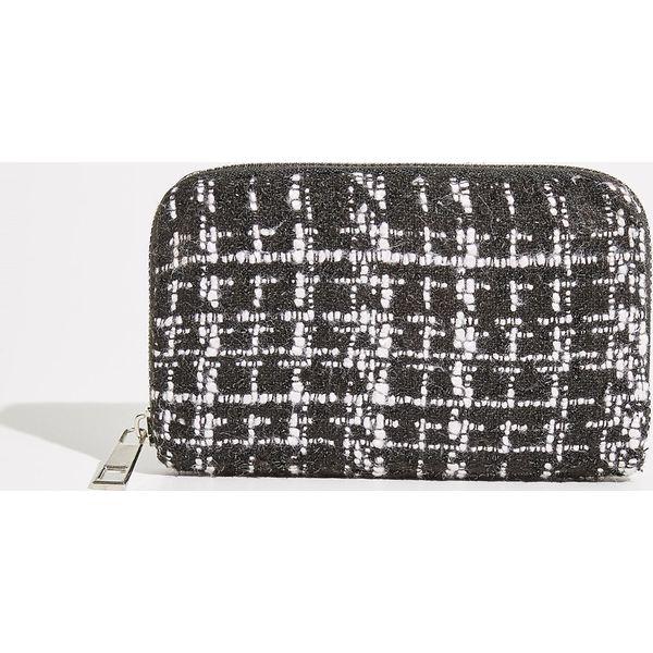 18c86af9e1699 Tweedowy portfel - Czarny - Butik - Modne ubrania