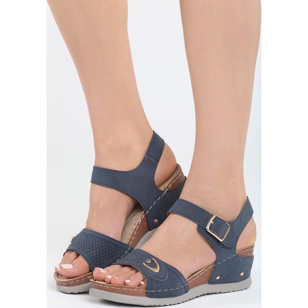 28dd4746 Granatowe Sandały Don't Judge - Niebieskie sandały damskie marki ...