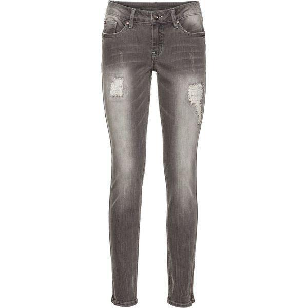 76b70819 Dżinsy Skinny z zamkami bonprix szary denim