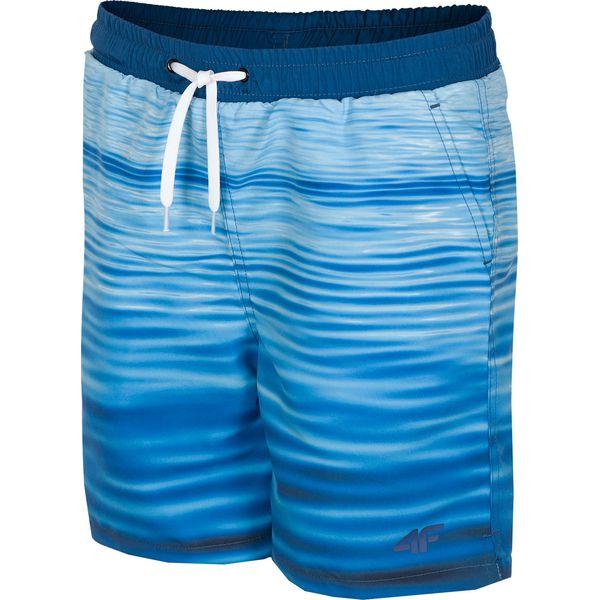 184ed3d3 Spodenki plażowe dla dużych chłopców JMAJM210 - niebieski ...